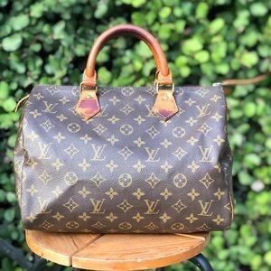 Authentic Louis Vuitton Speedy 30 Hand Bag Purse